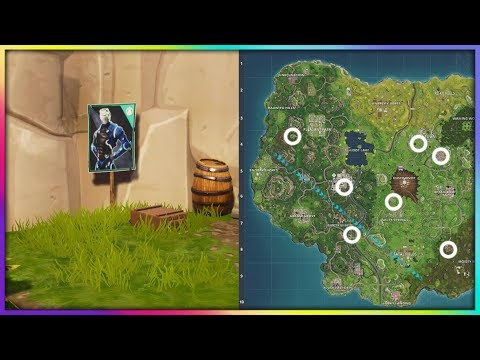 """Spray Over Different Carbide Or Omega Posters"" Locations Fortnite Week 6 Challenges! Season 4!"
