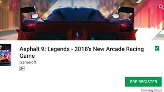 Asphalt 9 legends on playstore | QNA Time | and My second channel Topic
