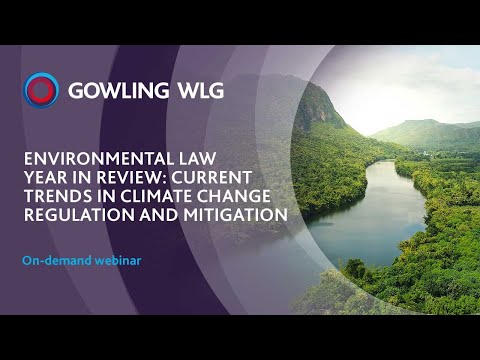 Environmental Law Year in Review 2020: Current trends in climate change regulation and mitigation