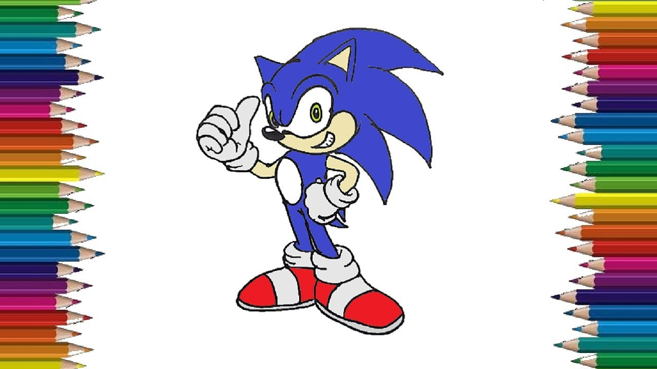 How To Draw A Sonic The Hedgehog Easy Sonic Drawing Step By Step