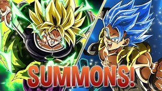 100 FREE STONES! LETS GO! Broly and Blue Gogeta Summons! Dragon Ball Z Dokkan Battle