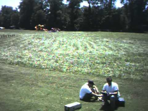 Flying the Aeryon Scout quad copter at the park