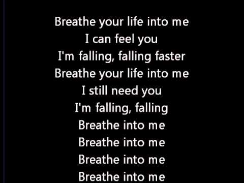 Red - Breathe into me lyrics