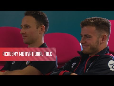 Marc Pugh and Ryan Fraser join academy players for motivational session