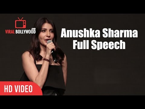 Anushka Sharma Full Speech | Launcing YRF's New Talent Anya Singh