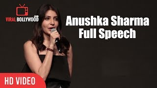 Anushka Sharma Full Speech   Launcing YRF's New Talent Anya Singh