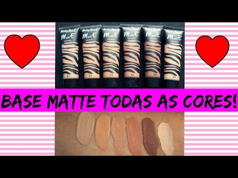 RESENHA BASE MATTE RUBY ROSE/ TODAS AS CORES!