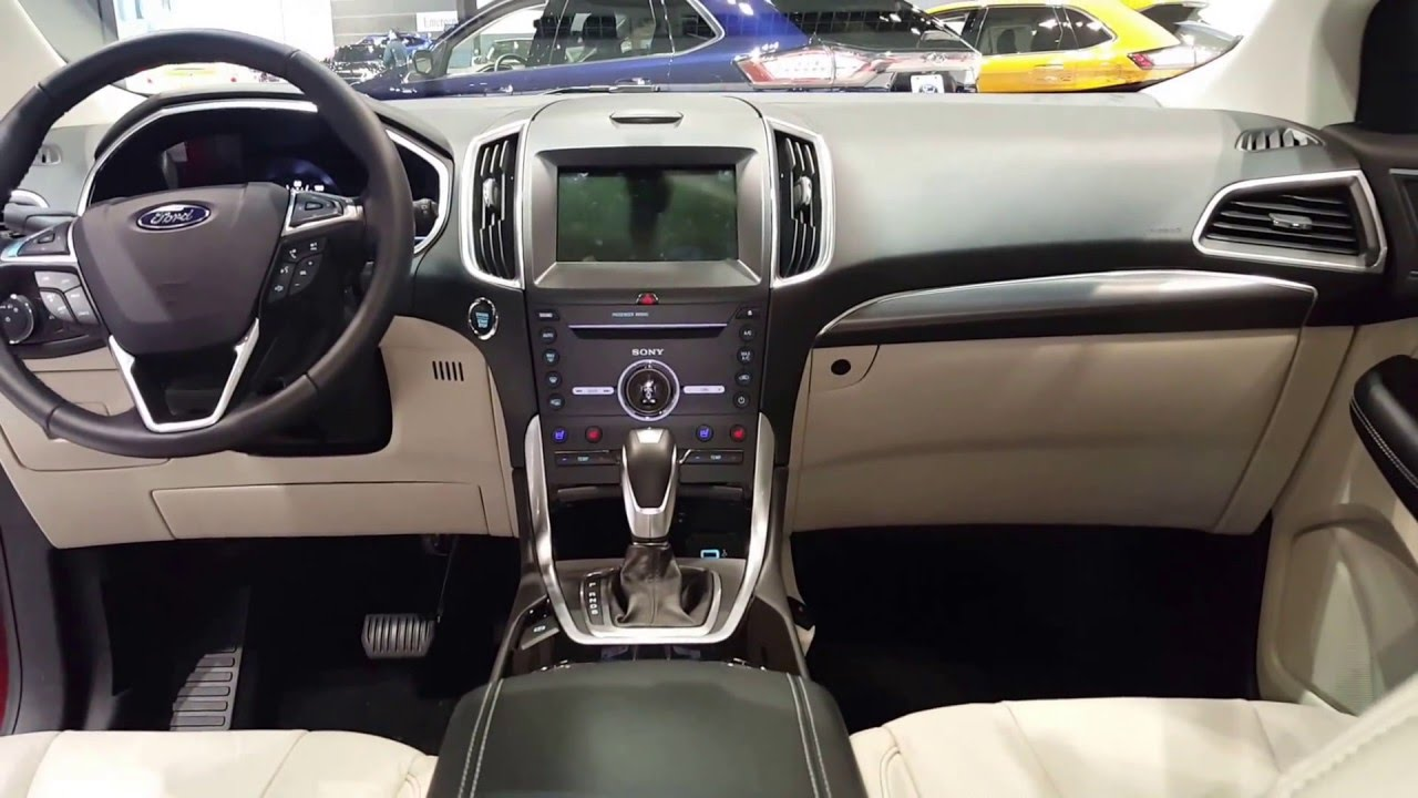 2016 ford edge titanium interior 2016 chicago auto show