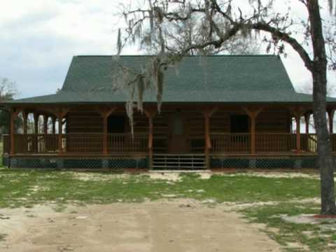 Cracker style log homes fowlers bluff youtube for Cracker style home plans