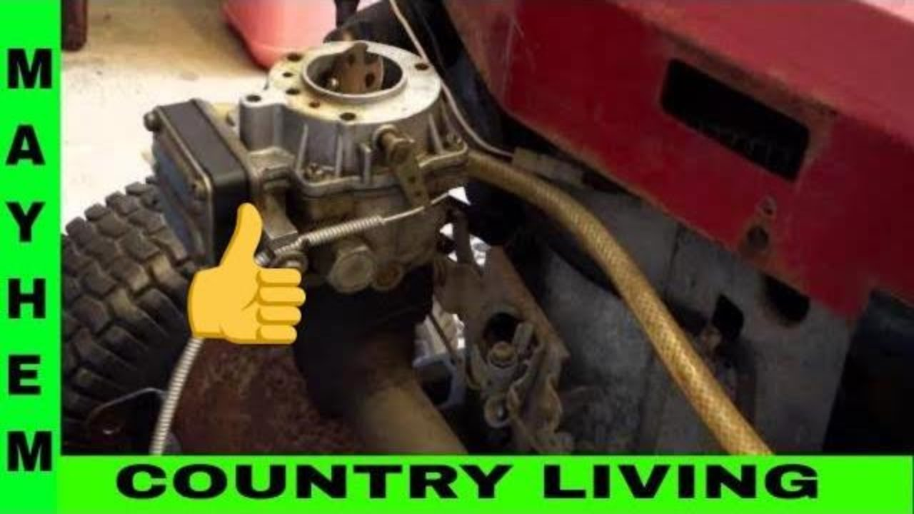 Briggs And Stratton Carburetor Repair Youtube Small Engines Lawn Mowers Etc Govenor