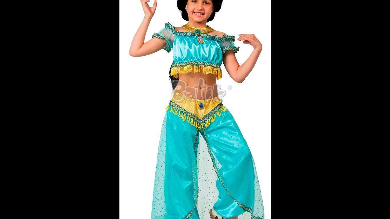Костюм принцесса Жасмин для девочки из мультфильма ...