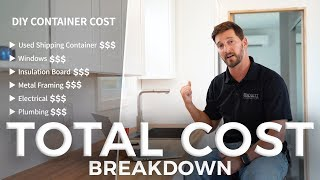 40ft DIY Shipping Container Home (Total Cost Breakdown)