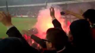 Rennes Lyon ambiance! (craquage/feux d'artifice)
