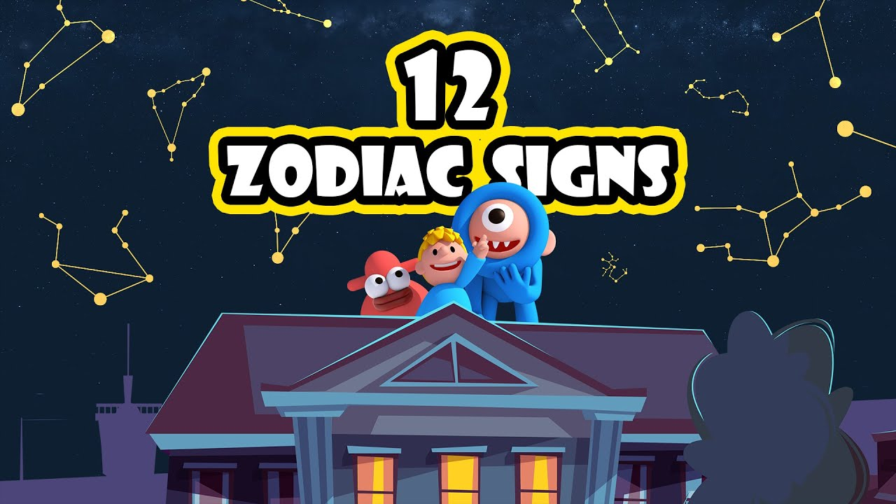 The Zodiac Constellation l 12Zodiac signs - star signs l Fun Learning ㅣ Educational video