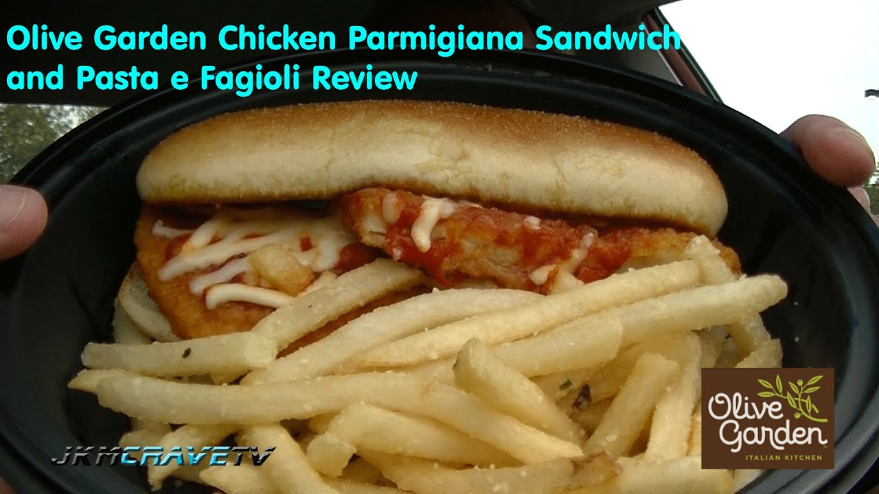 Olive Garden Chicken Parmigiana and Pasta e Fagioli Review - YouTube