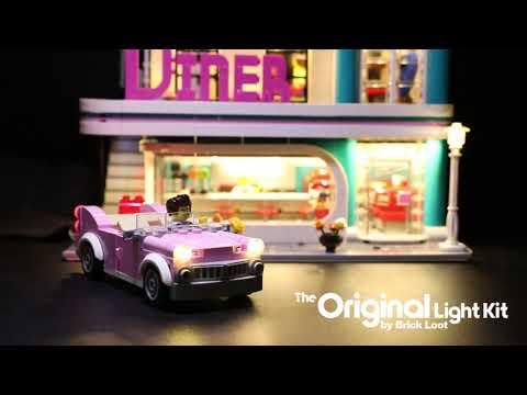 LED Lighting kit for LEGO Downtown Diner 10260