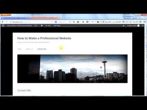 Make a Professional Website #7 -- A Contact Form for WordPress