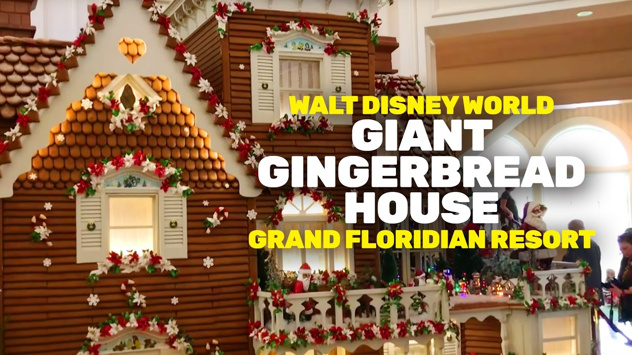 Giant Gingerbread House At The Grand Floridian Resort Walt Disney World