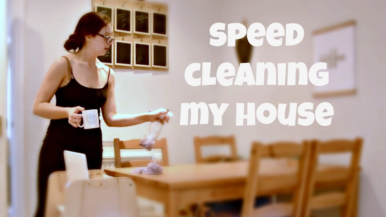 speed cleaning my house | day in the life of a mom of 2 | kerry