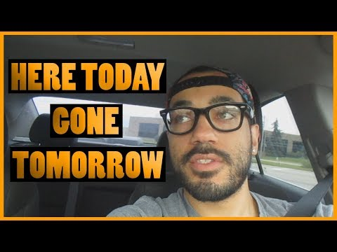 HERE TODAY, GONE TOMORROW (VLOG 96)
