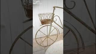 (화분대) 빈티지 브라운 철제 자전거 화분대에요~^^