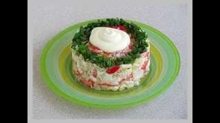 Рецепты салатов  Рыбный салат из минтая