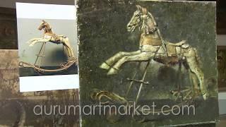 Видео урок живописи Деревянная лошадка