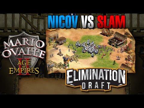 NICOV VS SLAM TORNEO ELIMINATION DRAFT FIEBRE DEL ORO AGE OF EMPIRES 2