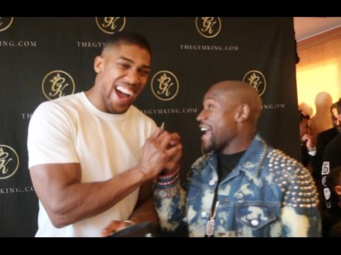 ANTHONY JOSHUA TELLS FLOYD MAYWEATHER - 'GET ME ON THE UNDERCARD OF THE CONOR McGREGOR FIGHT'