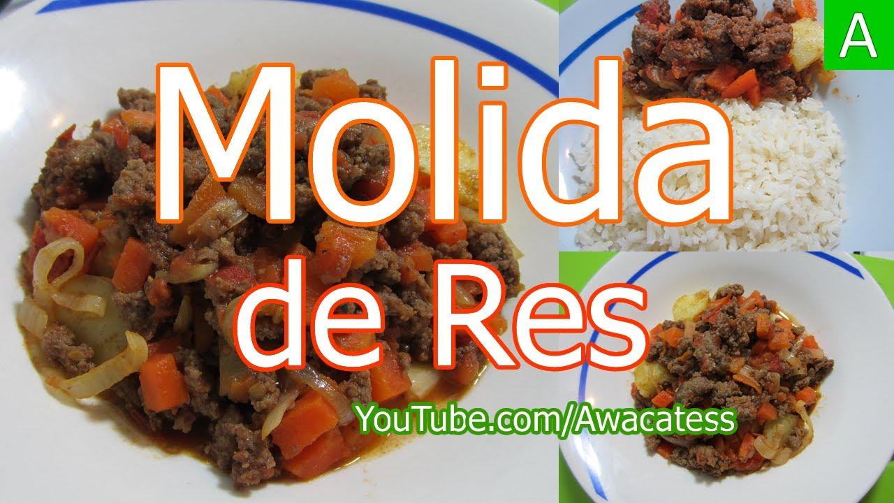 Carne molida de res con verduras o picadillo recetas de for Rectas de cocina faciles