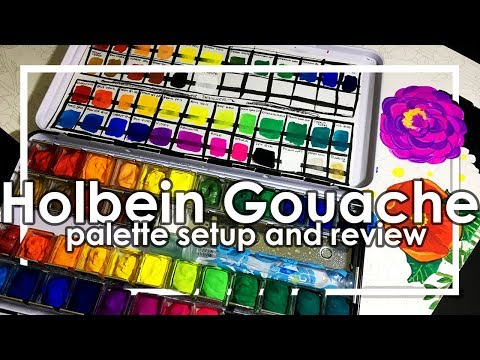 Holbein Gouache palette setup and paint review
