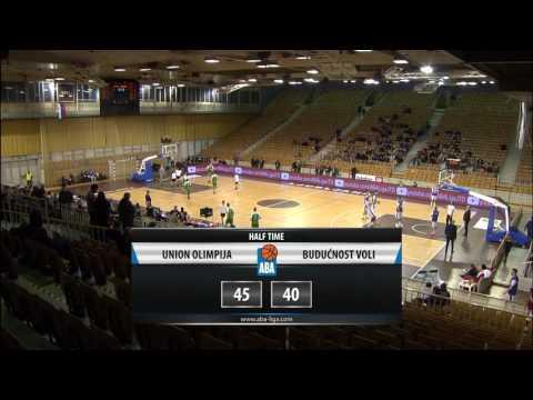 ABA Liga 2016/17 highlights, Round 23: Union Olimpija - Budućnost VOLI (22.2.2017)