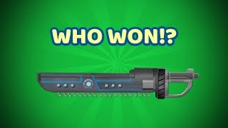 WHO WON THE ELECTRO SAW GIVEAWAY!? (ROBLOX ASSASSIN)