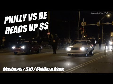 Philly vs DE Heads Up Racing | S10s Mustangs & Malibu Wagon Getting Down |