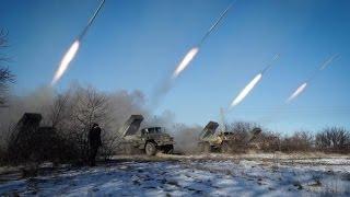 Обстрел Донецка сейчас!!!!