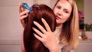 ASMR • SLEEPY Hair Massage • Whisper