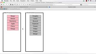 jQuery UI Droppable: Fruits &Vegetables Grouping Game using jQuery UI Droppable
