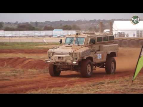 AAD 2016 mobility live demonstration Africa Aerospace & Defence exhibition armored tank vehicles
