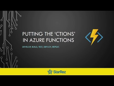 Melbourne ALT.NET Meetup - Putting the 'ctions' in Azure Functions (29 August 2017)