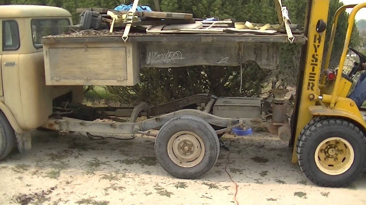 Removing The Bed From Fc170 Youtube Willys Fc 170 Jeep Truck Beds