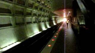 WMATA Blue Line train arrives at Federal Triangle station