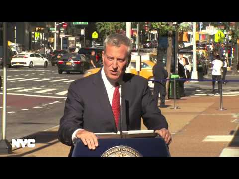 Mayor de Blasio Makes Announcement on Congestion in NYC