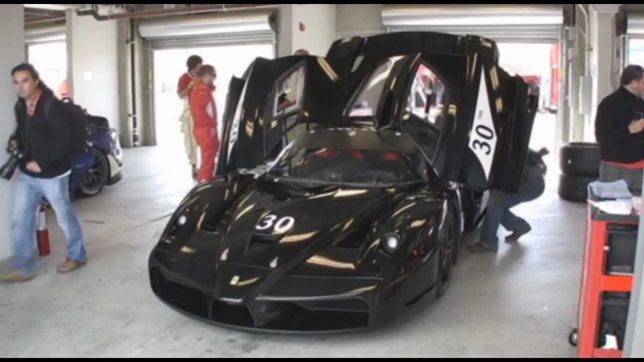 Michael schumacher 39 s former ferrari fxx at laguna seca for Garage schumacher metz