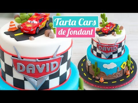 FONDANT CARS CAKE🚘🎂 | CARS CAKE | Quiero Cupcakes!
