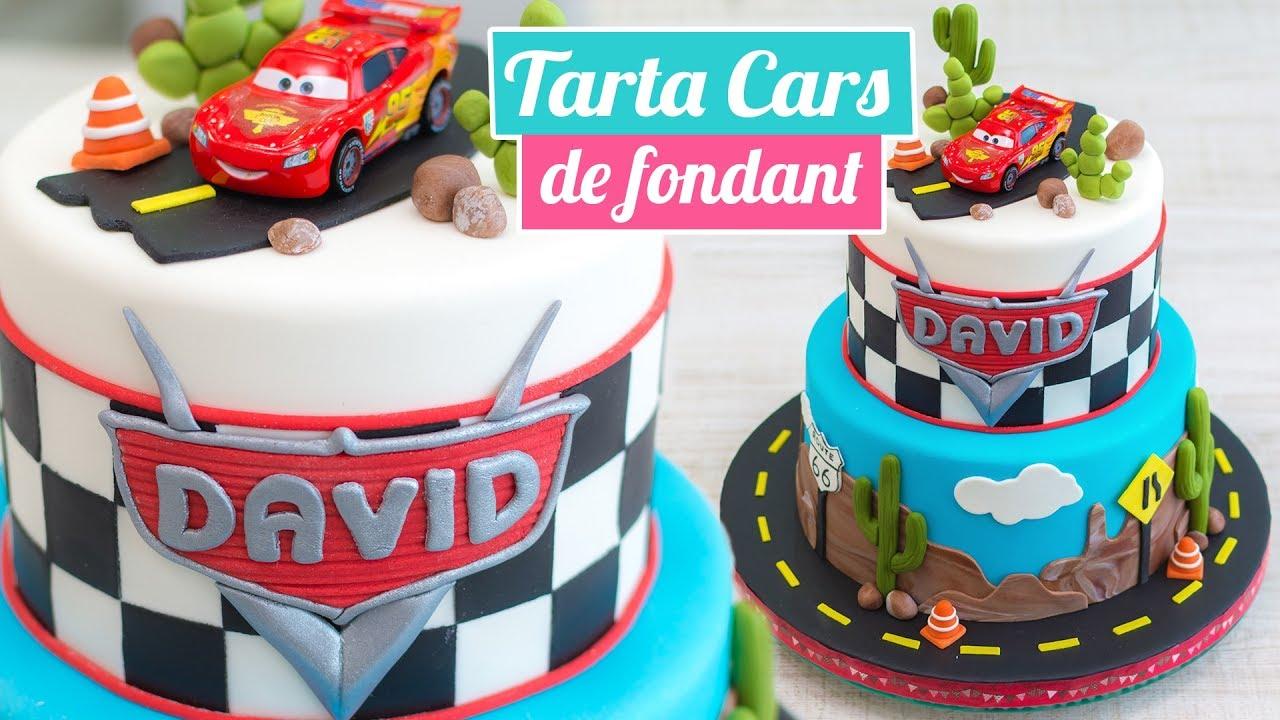 Tarta Cars De Fondant Cars Cake Quiero Cupcakes Youtube