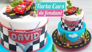 TARTA CARS DE FONDANT 🚘🎂 | CARS CAKE | Quiero Cupcakes!