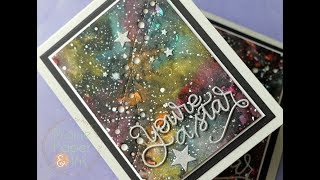 SSS You're A Star | Galaxy Background with Gansai Tambi Watercolors