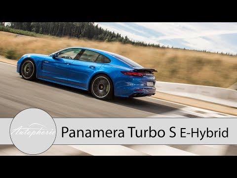 Porsche Panamera Turbo S E-Hybrid Rennstrecken Test / Der 918 Spyder für Vier - Autophorie