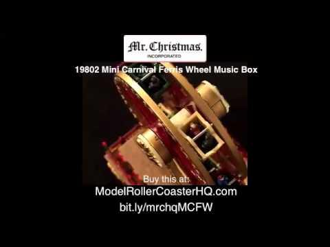 Christmas Ferris Wheel Music Box.Mr Christmas 19802 Mini Carnival Ferris Wheel