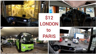 Bus travel in Europe: London to Paris, from Victoria coach station to Paris Bercy with FlixBus 4K